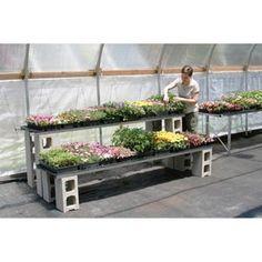 greenhouse shelving - Google Search