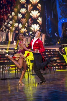 SCD week 9, 2016. Danny Mac & Oti Mabuse. Charleston. Top of the leader board. '40' perfect score.   Credit: BBC / Guy Levy