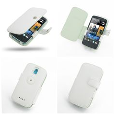 PDair Leather Case for HTC Desire 500 - Book Type (White)