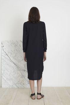 SAMARA SHIRT DRESS - BLACK | Apiece Apart