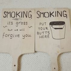 Smoking area signs for outdoor event