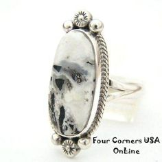 Four Corners USA Online Native American Artisan Jewelry - White Buffalo Turquoise Ring Size 8 1/2 Navajo Artisan Larry G Yazzie NAR-1408 Native American Silver Jewelry, $125.00 (http://stores.fourcornersusaonline.com/white-buffalo-turquoise-ring-size-8-1-2-navajo-artisan-larry-g-yazzie-nar-1408-native-american-silver-jewelry/)