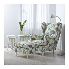 STRANDMON Wing chair, Gillhov multicolor - Gillhov multicolor - IKEA