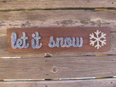 CLEARANCE SALE String Art Sign Let It Snow by BlossomingBurlap