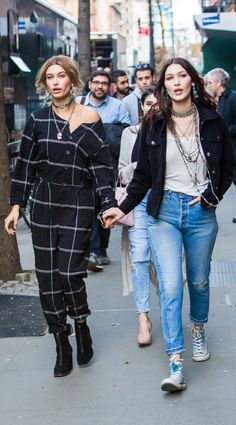 Bella Hadid and Hailey Baldwin wore boho-inspired pieces from Denim & Supply Co. on the streets of NYC.