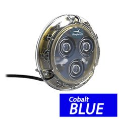 Bluefin LED Piranha P3 Surface Mount Underwater LED Light - 1100 Lumens - Topaz Blue
