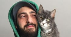 Some 'shoulder cats' like the view from high atop their owners' shoulders.