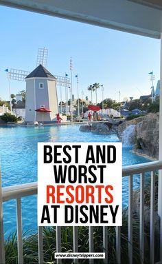 Best and worst Disney world resorts Best Disney World Resorts, Disney Value Resorts, Disney World Vacation Planning, Disney World Parks, Disney Vacations, Disney Hotels, Disney Travel, Vacation Spots, Disney World Tips And Tricks