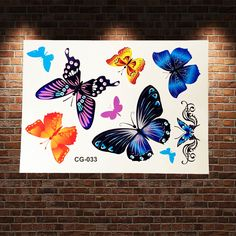 Child Flying Butterflies Flash Tattoo Stickers Waterproof Coloful Butterfly Tattoo Paste Summer Kids Body Art ARm Tatoo Adhesive-in Temporary Tattoos from Beauty & Health on Aliexpress.com   Alibaba Group