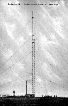 #TBT to this old tower in Tuckerton, NJ bringing radio to residents—while it was dismantled in December 1955, the concrete blocks used to anchor the tower's guide wires remain.