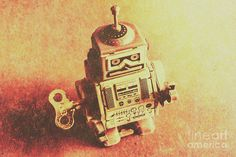 Retro Print featuring the photograph Old Electric Robot by Jorgo Photography - Wall Art Gallery