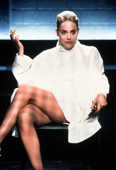 Sharon Stone, Basic Instinct, 1992 With this look, Sharon stone took the idea of the virginal white dress and smashed it. Smashed it with .