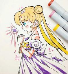 Art by: ibu_chuan on IG Anime Chibi, Manga Anime, Anime Art, Sailor Moon Art, Sailor Moon Crystal, Manga Drawing, Manga Art, Kawaii Art, Kawaii Anime