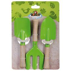 Kinder gereedschapset 3 dlg groen
