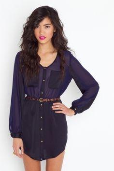 Black 'n Blue Shirtdress by DaisyCombridge