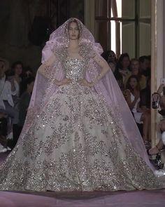 Zuhair Murad Bridal, Zuhair Murad Dresses, Dream Wedding Dresses, Designer Wedding Dresses, Bridal Dresses, Silver Wedding Gowns, Wedding Bride, Fantasy Gowns, Princess Wedding