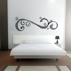 Vinilo decorativo especial cabecero de cama diseño Elegance. Masquevinilo.com