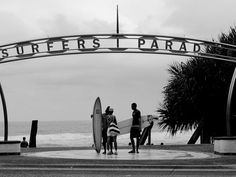 This is a sign, showing that the place is Surfers' Paradise. Gold Coast Queensland, Gold Coast Australia, Queensland Australia, Land Of Oz, Travel Memories, Ocean Beach, Dream Vacations, Places To See, Beautiful Places