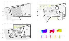 AQSO auditorio sin doblez, planta baja, sótano y primera, distribución de asientos, palcos, platea, escenario y zona de carga y descarga