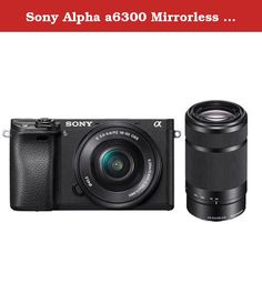 Sony Alpha a6300 Mirrorless Digital Camera Body with 16-50mm E-Mount Lens And 55-210mm f/4.5-6.3 OSS E-Mount NEX Camera Lens. Sony introduces the latest addition to their award winning line-up of mirrorless cameras, the a6300. The camera boasts an unrivalled 4D FOCUS system that can lock focus on a subject in as little as 0.05 seconds, the world's fastest AF acquisition time. Additionally, the a6300 has an incredible 425 phase detection AF points that are densely positioned over the…