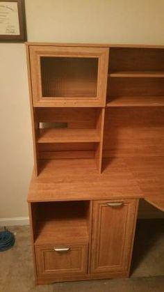 Computer Desk Bookcase, Desk, Shelves, Home Decor, Writing Table, Shelving, Homemade Home Decor, Desktop, Bookcases