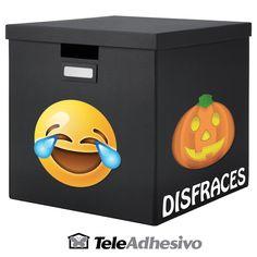 Decorar caja de disfraces con vinilos decorativos Emoji #vinilo #decoracion #pared #emoticono #caja #cubo #TeleAdhesivo Emoji, Toy Chest, Storage Chest, Furniture, Home Decor, Decorate Box, Smileys, Adhesive, Cubes