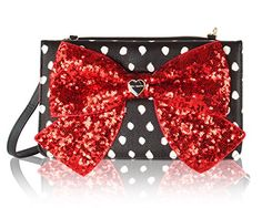 Betsey Johnson Bow Wallet On A String Crossbody - Spot ** Want to know more, visit