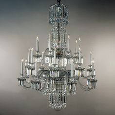 Artisan Lamp's Baccarat Crystal Chandelier from the 19th century.