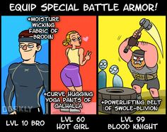Get In Shape By Treating The Gym Like An RPG - Gym Humor