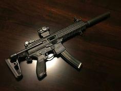 tacticalbadass: Love this thing! Sig Mpx, Sig Sauer, Sig Sg 550, Custom Guns, Military Guns, Tactical Gear, Shotgun, Firearms, Badass