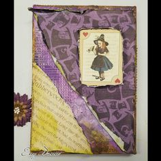 Mixed media canvas art using the Graphic 45 Halloween in Wonderland collection