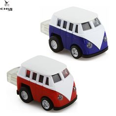 Real Capacity VW Bus USB 2.0 Flash Drive Mini Car Model 4G 8GB 16G 32G 64GB Pendrive USB2.0 Memory Stick Pen Driver For Gift