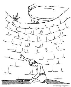 Bible Coloring Page - Joseph in Well