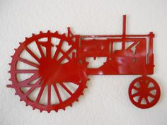 Farmall Tractor metal wall art Tractor Bedroom, Farmall Tractors, Hobby Farms, Metal Wall Art, Wall Signs, Farming, Rustic Decor, Sweet Home, Gifts