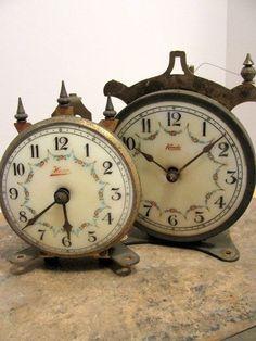 Vintage Clock Parts Steampunk Assemblage Jewelry Supplies
