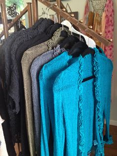 Beautiful Gaya Cardigans in Teal, Black, Olive, and Charcoal $58