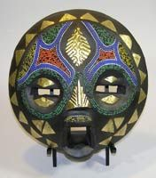 African Masks from the Baluba tribe. Baluba Mask 38. This African Mask is 10 inches tall.