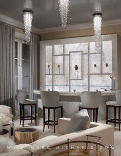 Love the lighting! Contemporary bar, interior design, Palm Beach, FL | Marc-Michaels http://www.bykoket.com/news/category/interior-design