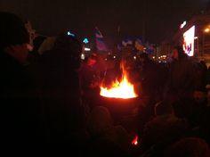 Буржуйки з Європейської площі - металеві діжки з дровами, стали дуже доречними для Майдану Незалежності.