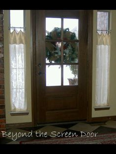 New Entry Hall Window Treatments   Beyond The Screen Door