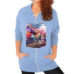 Dreamscape Zip Hoodie (on woman)