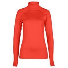 Nike Pro Hyperwarm Mock II - Women's - Training - Clothing - Sunburst/Cool Grey