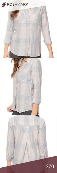 Splendid Wildwood Plaid shirt EUC Washed but not worn. Splendid Wildwood plaid shirt in pale pink. Very soft, cute detail in the back. 100% cotton. Retails on sale on Splendid website currently for $138 but sold out in size medium. Splendid Tops Button Down Shirts