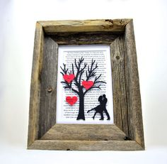 Hand Framed Personalized Anniversary or Wedding Gift by HandmadeHQ