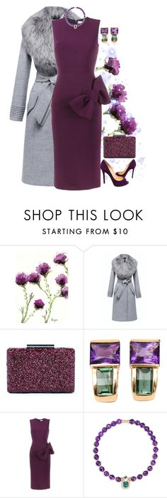 """""""Put a Bow On"""" by easy-dressing ❤ liked on Polyvore featuring Sole Society, Roksanda, Mellerio, Christian Louboutin, purple, bow, WhatToWear and polyvoreeditorial"""