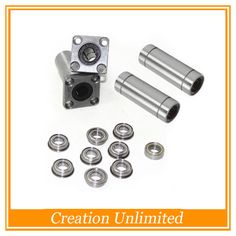 Ultimaker 2 3D Printer Ball Bearings / Square Flanged Linear Bearings LMK12LUU+LM6LUU+688zz +F688 bearing for 3D printer part #shoes, #jewelry, #women, #men, #hats, #watches