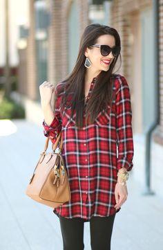 Cute plaid shirt dre