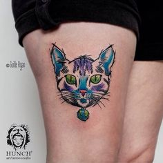 #cat #world #colors #sketch #watercolor #guilleryan #lovepets #tattoo #tattrx #tattoscute #hunchtattoo #palermo #buenosaires #argentina  contacto: hunchtattoo@gmail.com