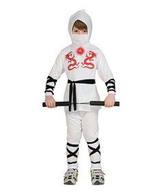 Look at this #zulilyfind! Rubie's White & Red Ninja Dress-Up Set - Boys by Rubie's #zulilyfinds