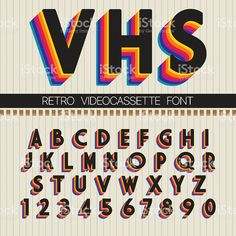 Find Retro Font Vector Vhs Alphabet stock images in HD and millions of other royalty-free stock photos, illustrations and vectors in the Shutterstock collection. Thousands of new, high-quality pictures added every day. Lettering Tutorial, Hand Lettering, Letras Cool, Typographie Fonts, Inspiration Typographie, 90s Design, Funky Design, Aesthetic Fonts, 90s Aesthetic